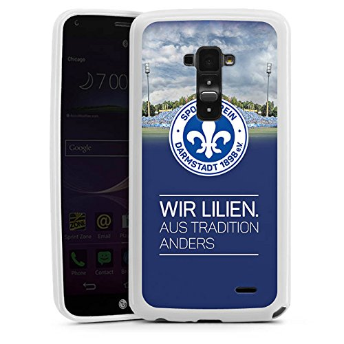 LG G Flex Silikon Hülle Case Schutzhülle Lilien Bundesliga Sportverein (Flex-lilie)