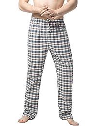 29c71557fea56 LAPASA Men's Pyjama Bottoms 100% Cotton Checked Flannel & 100% Woven Cotton  Plaid Pants