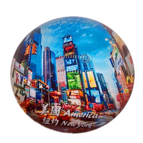 Time Square New York USA Amerika Kühlschrank Kühlschrankmagnet Stadt Welt Kristallglas Handgemachte Tourist Travel Souvenir Sammlung Geschenk Starke Wort Brief Aufkleber Kinder