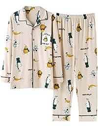 33a436c245 Meaeo Conjuntos De Pijama Otoño Invierno Algodón De Dibujos Animados Parejas  Calientes Pijamas Mujeres Homewear Ropa De Dormir…