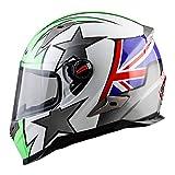 Harleeyr Motorrad Helm Touring Motorrad Helm Racing Street Moto Casco Männer Frauen Chopper Scooter Cruiser Full Face Helm UK Stars XXL