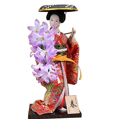 Japanische traditionelle Puppe Geisha Puppe antike japanische Puppen [A]