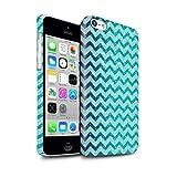 Stuff4 Clipser Brillant Coque de Coque pour Apple iPhone 5C / Chevron Bleu Aqua...