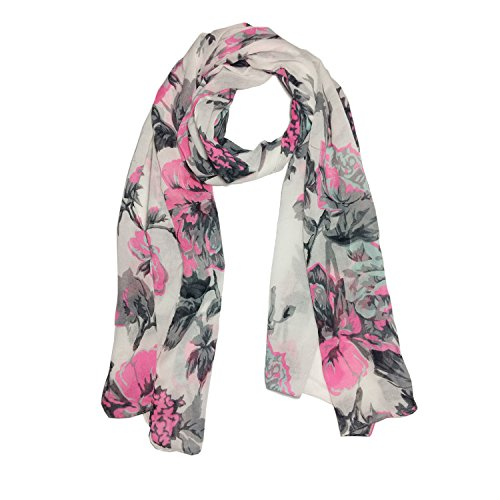 Clapcart Designer Printed Scarf and Stoles Chiffon Multicolored for Girls / Ladies / Women - Clapcart-S031  available at amazon for Rs.99