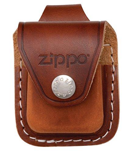 zippo-ledertasche-braun-mit-schlaufe