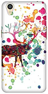 The Racoon Grip printed designer hard back mobile phone case cover for Oppo A37. (When The R)