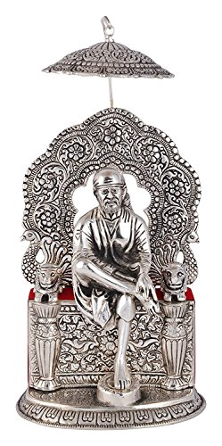 Silver Plated Sai Baba Silver Finish Oxidized for Loves Ones, Valentine's Day, Mother's Day Gift, Anniversary Gift, Birthday Gift. Corporate Gift