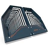 Presch Innensechskantschlüssel Satz HX 30 teilig - Innensechskant Schlüssel Set Metrisch / Zoll kompakt mit Box