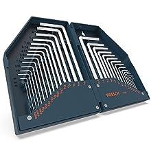 Presch Jeu de 30 clés Allen HX - Coffret compact clés 6 pans creux professionnelles métriques/pouces