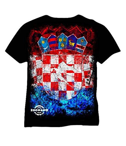 Zoonamo Kroatien Classic Shirt schwarz Schwarz