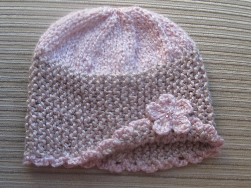 Knitting Pattern Spring Hat with a Flower