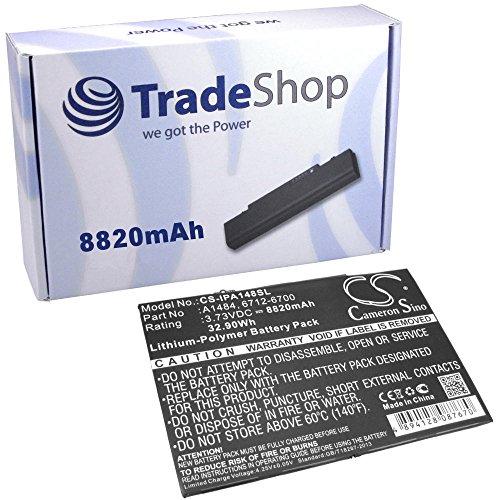 TradeShop Premium Li-Polymer Qualitäts Akku, 3,73V / 32,9Wh für Apple iPad 5, Air, Air Mini MD785LL/A MD786LL/A MD787LL/A MD788LL/A MD789LL/A MD790LL/A ME898LL/A ME906LL/A ME991LL/A (Md785ll B)
