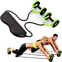 UUAVV Sports Core Double AB Roller Máquina de Ejercicios Abdominales, Professional AB Wheel Roller Sports Equipment, Verde