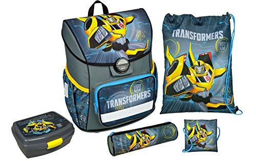 Undercover - Schulranzen Set Cosmos, leicht, ergonomisch, Transformers, 5 teilig