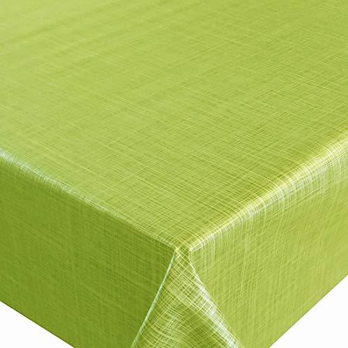 d-c-fix Wachstuch Wachstischdecke Tischdecke Gartentischdecke Leinen Look Hellgrün Breite & Länge wählbar 110 x 160 cm Eckig abwaschbar Lebensmittelecht