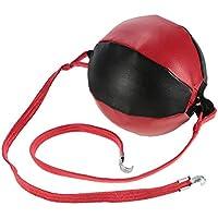 Zyurong Bolso de Boxeo de Piel para Adultos, Doble Punzón, para Entrenamiento de Cuerda de Suelo a Techo