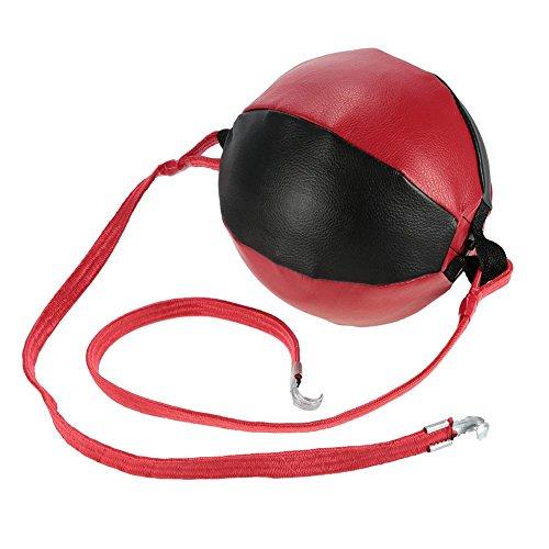 PROKTH Leder Boxbirne Erwachsene aufblasbar Doppel End Boxsack Boden zu Decke Rope Training Stanz Workout -