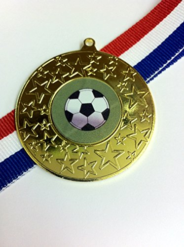 20-x-50mm-diameter-gold-coloured-football-medals-with-free-medal-ribbons