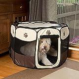 Parc à chiot grand parc pliable transportable pour chiens chats animaux de compagnie pour intérieur ou extérieur très pratique 2...