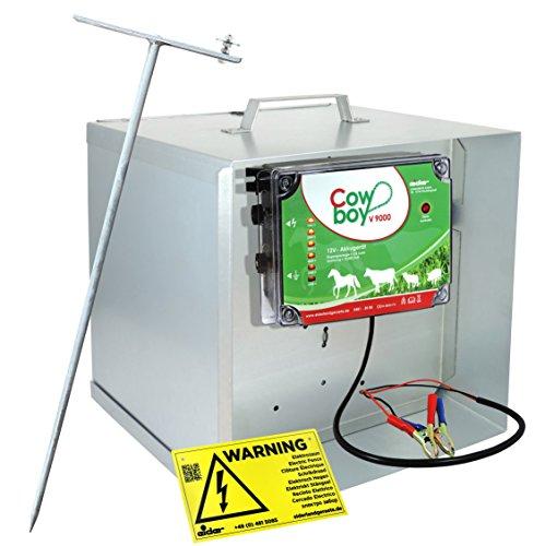 #Mobiles Elektrozaun-Set: Weidezaungerät EIDER V9000 12V + Box + Diebstahlsicherung l Unser bestes 12V Weidezaungerät – gegen Diebstahl gesichert#