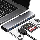 BYTTRON Hub USB C, Adattatore hub Tipo C, 3 Porte USB 3.0, Lettore di schede SD e TF, Thunderbolt 3 Porte, hub USB Tipo C 6 in 1 per MacBook PRO 13'e 15' 2016/2017/2018, MacBook Air 13'2018 (Grigio)