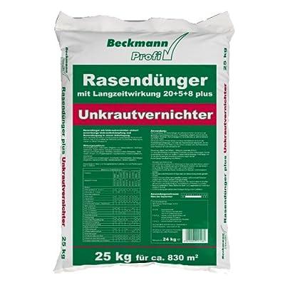 Rasendünger mit Unkrautvernichter+Langzeitwirkung Premium Beckmann im Garten FREI HAUS (25 kg (830m²))
