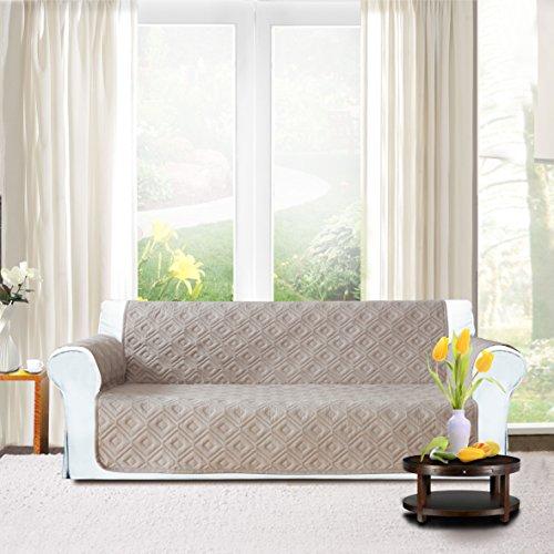 Lusso di divano | antiscivolo | impermeabile | lavabile per tutte le stagioni copridivano. 1/2/3posti protector, beige, (three seater ( 280 x 179 cm )