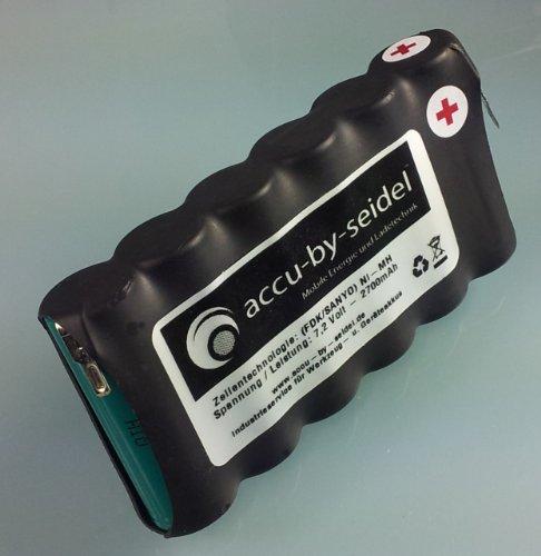 Ersatz - Akku BS60 für Wolf ACCU BS 60 Gartengeräte - 2700mah - 7,2 Volt - NiMH - Kurzschlußgeschützt u. Vibrationsgedämpft