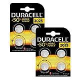 Duracell Specialty 2025 Lithium-Knopfzelle 3V, 8er-Packung (CR2025 /DL2025) entwickelt für die Verwendung in Schlüsselanhängern, Waagen, Wearables und medizinischen Geräten.