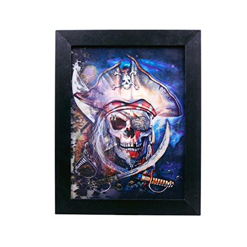Zoelibat 97272941.008 Effektbild 3D, Pirates of the Caribbean Vexierbilder, Deko Halloween, circa 36 x 46 cm