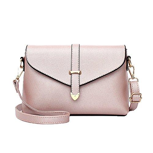 Sacchetti Di Spalla Di Cuoio Delle Borse Di Cuoio Delle Donne Sacchetti Di Tote Delle Donne Di Top-handle Pink