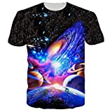 RAISEVERN T-Shirts Lustig Herren Galaxis Hawaiian Shirt Coole T Shirts Top 3D Druck XXL