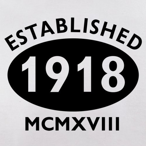 Gegründet 1918 Römische Ziffern - 99 Geburtstag - Herren T-Shirt - 13 Farben Weiß