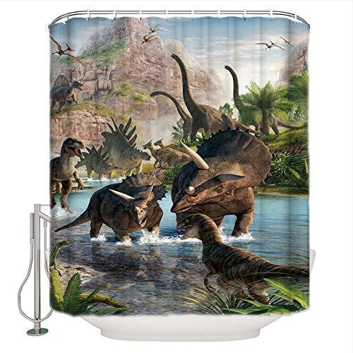 WIXIJAWR Jurassic Dinosaur World Dinosaur World Impermeable