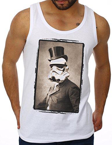 OM3 - SIR STORMTROOPER - Tank Top Darth Vader Chewie Yoda SciFi Geek Fun Swag UK Parodie, S - 4XL Weiß