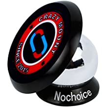 Nochoice® 360° Universale Dashboard Supporto Base Mounts Magnetico da Auto Telefoni Cellulari e GPS Navigatori per iPhone 6 plus /6 /5s /5 /5c Samsung Galaxy S5 /S4 /S4, Note 3/2, Blackberry, HTC, LG (35mm black)