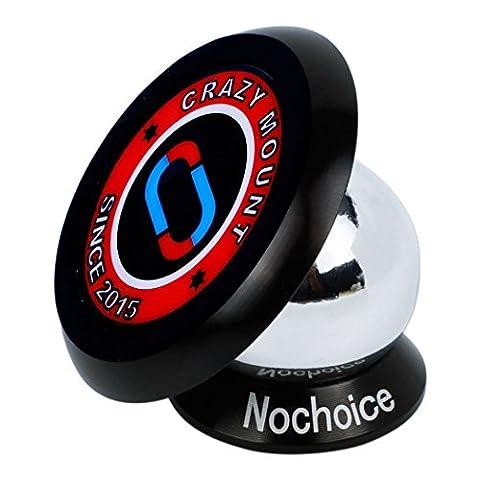 Nochoice® Support Magnétique Universel Voiture Support Téléphone Aimant 360 ° de rotation à Magnetic collantes pour iPhone 6s,6 ,5 / 5S / 5C / 4 / 4S, Samsung Galaxy S6 / S5 / S4 / S3 / Note 3 , HTC One, Nexus 7, BlackBerry, LG, Apple iPhones, Android smartphones (35