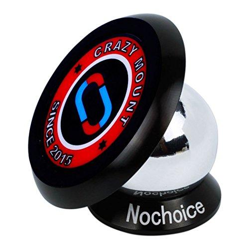 Nochoice® Einstellbar KFZ Handyhalter für Universal Smartphone Handyhalterung Universal Autohalterung Magnet Auto Halter für Navi, iPhone 6, iPhone 5 / 5S / 5C / 4 / 4S, Samsung Galaxy S6 / S5 / S4 / S3 / Note 3, HTC One, Nexus 7, Blackberry, LG, und alle Handys(35 black)