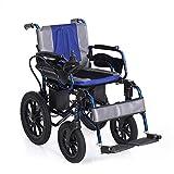 EMOGA Heavy Duty Electric Wheelchair, Foldable And Lightweight Powered Wheelchair, 360° Joystick, Seat Width 41Cm