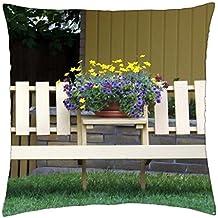 Lugar tranquilo para sentarse–Funda de almohada manta (16