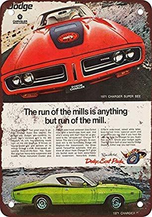 Odeletqweenry Metallschild, Blechschild, Blechschild, 1971 Dodge Charger Super Bee und R/T Vintage Look Reproduktion Blechschild 30,5 x 45,7 cm