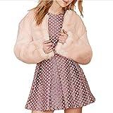 IMJONO Frauen Winter Warm Thick Coat Solid Overcoat Outercoat Jacke Cardigan Coat (X-Large,Rosa)