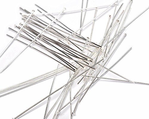 Beads Unlimited 2 versilbert Metall headpin, 100 Stück