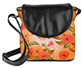 Snoogg Colorful Flowers Womens Sling Bag Small Size Tote Bag