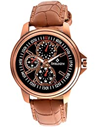 Sheldon Brown Leather Analog Watch For Men (SH-1016)