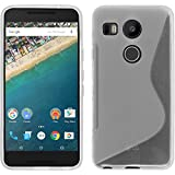 PhoneNatic Case kompatibel mit Google Nexus 5X - Clear Silikon Hülle S-Style + 2 Schutzfolien