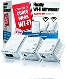 Devolo dLAN 500 Wi-Fi Powerline Network Kit, Wi-Fi signal booster (500 Mbps, 3 Plugs, 1 LAN Port, Small Mini Design, Wi-Fi Extender Kit, Wi-Fi Extender, PLC Adapter, Wi-Fi Move) - White