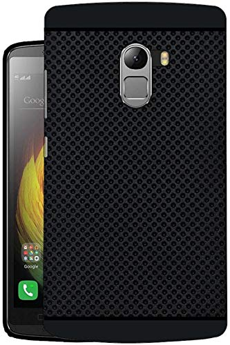 Hello Zone Exclusive Dotted Design Soft Back Case Cover For Lenovo K4 Note-Black