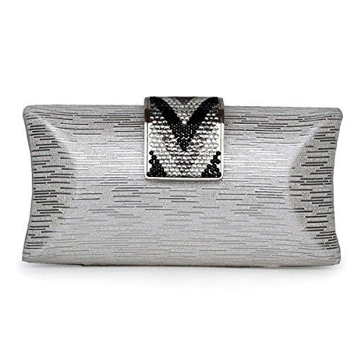 Il Sacchetto Del Pranzo Delle Coperture Di Modo Delle Signore Del Metallo Il Sacchetto Di Cosmetici Silver