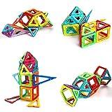 Glantop DT Magnetic Blocks 135pcs, 3D Magnetic Building Sets, Construction Magnetic Tiles - Creativity beyond Imagination, Inspirational, Recreational, Educational Toys for Kids